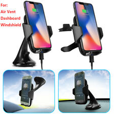 Qi Wireless Car Charger Mount Stand Holder For iPhone 8 Plus X Note 8 Cell Phone