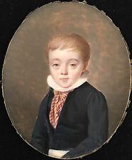 Portrait miniature d'enfant vers 1810