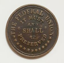 1863 Army & Navy, The Federal Union, Civil War Token