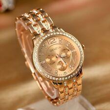 Geneva Unisex Stainless Steel & Diamante Watch - Choose Colour - Brand New