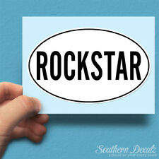 "Rockstar Euro Oval - Vinyl Decal Sticker - c42 - 6"" x 3.75"""
