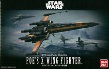 Bandai STAR WARS New 1/72 POE'S X-WING FIGHTER w/ BB-8 RO-H2 Pilot from Japan