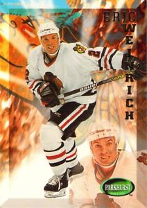 1995-96 Parkhurst NHL Hockey Eric Weinrich Card #310 Chicago Blackhawks Defender