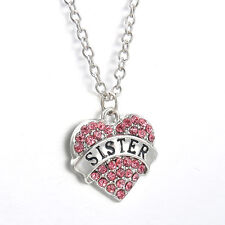 Hot Sale Family Best Gift Friendship Necklace English Letters Rhinestone Jewelry