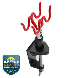 Airbrush Stand - Dual Airbrush Clamp-on Table Mount