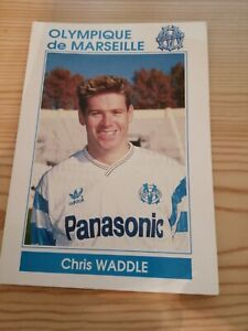 Carte Postale 1990 1991 Marseille OM Chris Waddle Rare. Vintage