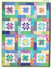 Lucky Stars - quick and easy pieced quilt PATTERN - Atkinson Designs - 5 sizes