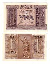Italia 1  lire 1939 Grassi Porena Cossu FDS UNC  pick 26  rif. 4038