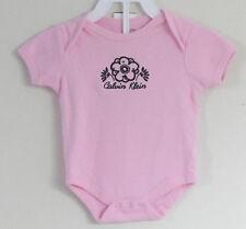 CALVIN KLEIN Size 6-9 Months Girls Pink Short Sleeves Bodysuit Romper