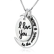 "Two Piece ""I Love You To The Moon and Back"" Pendant Necklace + Gift Box"