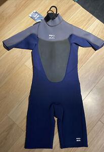 NWT Billabong Boys Wetsuit / Springsuit 2mm Size 14 Retail $79.95