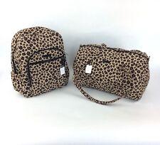 Vera Bradley SMALL DUFFEL Bag CAMPUS BACKPACK Set LEOPARD Print NWT