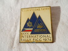 Badge insigne camping Cssr- Vysoké Tatry 35 International  Rallye FICC 1974