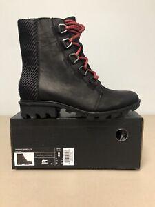 Sorel Phoenix Short Lace Boot Women Size 8 Waterproof Black NIB