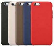 Original de cuero PU blando Silicona Funda Delgada Apple Iphone 10 8 6s 5 7 Plus