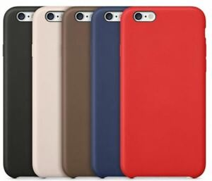 Original PU Soft Silicone Leather Case Cover For Apple iPhone 10 8 7 Plus 6s 5