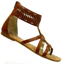 a13667473913 Jessica Simpson Kierstyn Brown Gladiator Thong T-strap Sandals Women s ...