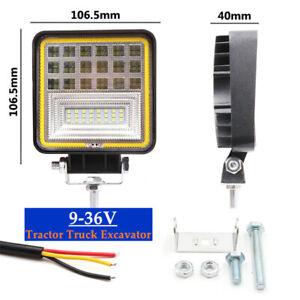 126W 7000K LED Work Light Off-Road Headlights 9V-36V For Tractor Truck Excavator
