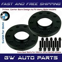 2 PCS. DIA 72.6mm IN 72,6 mm PCD 5X120 CENTRE BORE 15MM BMW WHEEL SPACERS