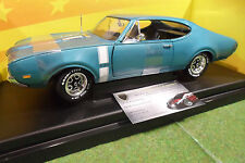 OLDS 4-4-2 1968 bleu turquoise 1/18 AMERICAN MUSCLE ERTL 36420 voiture miniature