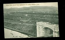 Early Postcard Gatun Dam Viewed From Lighthouse on Locks Panama Canal A7629