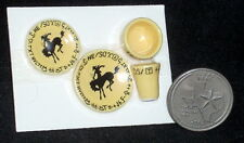 Dollhouse Miniature Cowboy Ranch Ware - Ranchware Dishes Place Setting T SKY91A