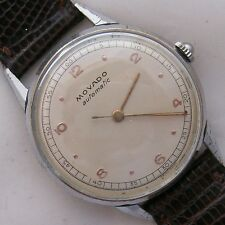 Movado Automatic Bumper mens wristwatch cal 220 nickel chromiun case 34 mm.