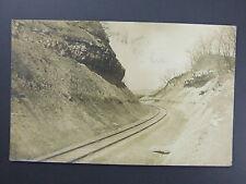 Wheeling West Virginia Wv Railroad Tracks Real Photo Postcard 1909 Flag Cancel