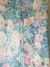 "Vintage 1990 Interior Designs Dupont Teflon Chintz Fabric 56"" W x 1 1/2 yd L new"