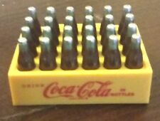"Vintage Original Coca Cola Mini Magnet 24 Bottle Cart Case Plastic 2"" Wide 1998"