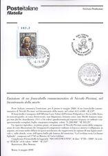 ITALIA 2000 NICCOLO' PICCINNI  BOLLETTINO COMPLETO DI FRANCOBOLLI FDC