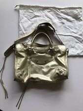 "Authentic Balenciaga Gold Metallic Leather Studded ""Classic City"" Bag!"