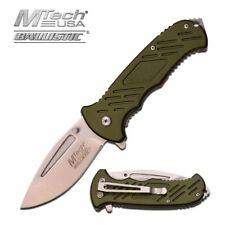 Spring-Assist Folding Pocket Knife Mtech Tan Tactical Blade Edc Mt-A875Gn