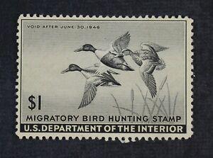 CKStamps: US Federal Duck Stamps Collection Scott#RW12 $1 Mint LH OG
