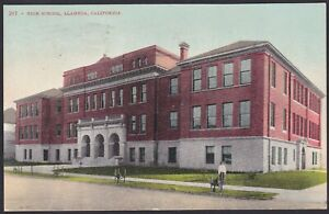 Circa 1909 Vintage Postcard High School ALAMEDA, California United States