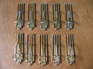 """Lot 10 Vintage Metal 4 Prong Pinch Pleat Drapery Curtain Hooks Approx 2.5"""""""