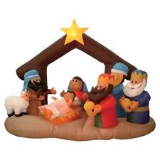 Christmas Inflatable Nativity Scene Children Under Stable