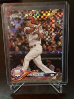 2017 Topps Chrome Rhys Hoskins Xfractor Rookie Philadelphia Phillies RC SP #70
