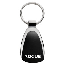 Nissan Rogue Black Tear Drop Metal Key Ring