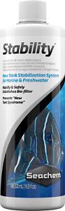 Seachem Stability 500mL BioStarter Bacteria Bio Filter Fish Aquarium Bio Starter