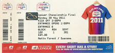 Reading v Swansea City 30 May 2011 Championship Final TICKET SWANS PROMOTION
