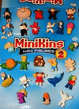 GARBAGE PAIL KIDS MINIKINS 2 COMPLETE PAINTED SET OF 26 FIGS + STICKER CARD SET