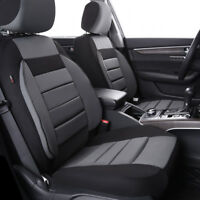 Universal 2 Front Car Seat Covers Black Grey Soft Sofa For Van TRUCK Nissan Ford