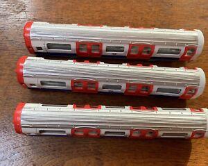Feva Diecast London Underground Tube Carriages X 3