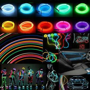 EL Kabel Leuchtdraht LED Neon Wire Lichtschnur Leuchtdraht Licht Glühen Party