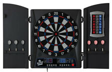 Electronic Dartboard Set With Cabinet Soft Tip Electric Scoring 34 Games