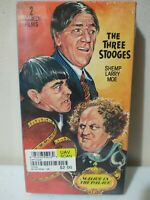 The Three Stooges - Sing a Song of Six Pants/Malice in the Palace VHS NEW SEALED