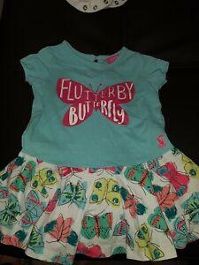 Joules summer Dress Flutter Butterfly 3-6 months EUC