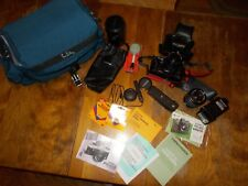 YASHICA FX-103 Program 35mm Camera Winder Flash Tokina SD Lens Bag & Extras