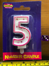 5 Five Wax Number Candle Pink Girl Celebrate New Cake Topper Birthday